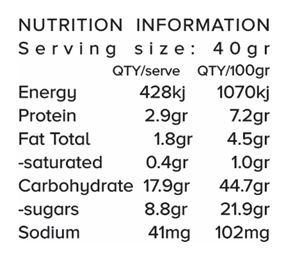 Health Ball Mix Guilt Free Nutrition Information